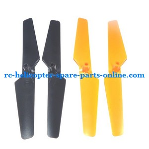 JXD 380 UFO Quadcopter spare parts blades Black(Forward + Reverse) + Yellow(Forward + Reverse) 4pcs