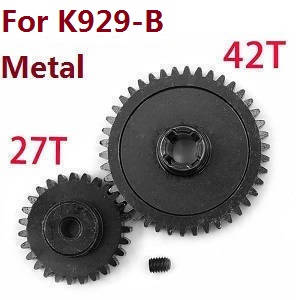 Wltoys K929 K929-A K929-B RC Car spare parts reduction gear + motor gear (Metal) for K929-B