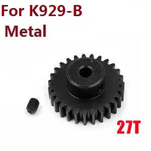 Wltoys K929 K929-A K929-B RC Car spare parts motor gear (Black Metal) for K929-B