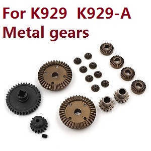 Wltoys K929 K929-A K929-B RC Car spare parts total gear set (Metal) for K929 K929-A