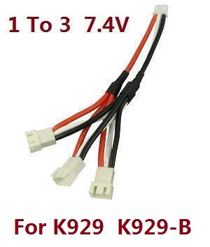 Wltoys K929 K929-A K929-B RC Car spare parts 1 to 3 charger wire 7.4V