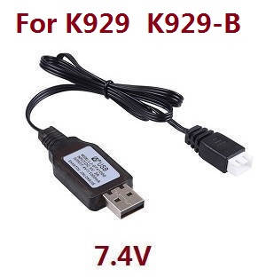 Wltoys K929 K929-A K929-B RC Car spare parts USB charger wire 7.4V