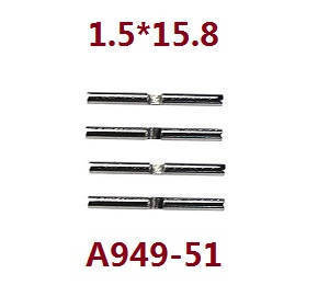 Wltoys K929 K929-A K929-B RC Car spare parts differential small metal bar shaft 1.5*15.8 A949-51