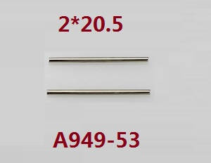 Wltoys K929 K929-A K929-B RC Car spare parts steering shaft 2*20.5 A949-53