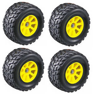 Wltoys K929 K929-A K929-B RC Car spare parts tires with yellow hub 4pcs