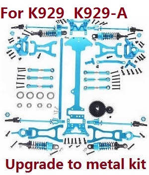 Wltoys K929 K929-A K929-B RC Car spare parts upgrade to metal kit (For K929 K929-A)