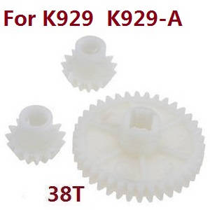 Wltoys K929 K929-A K929-B RC Car spare parts reduction gear + driving gear (Plastic) for K929 K929-A