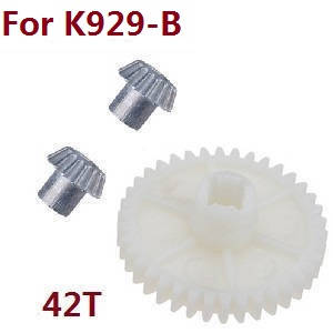Wltoys K929 K929-A K929-B RC Car spare parts reduction gear + driving gear (Metal) for K929-B