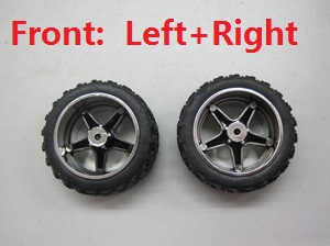 Wltoys L939 L999 RC Car spare parts Front wheel (Left + Right)