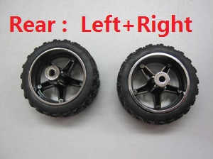 Wltoys L939 L999 RC Car spare parts Rear wheel (Left + Right)