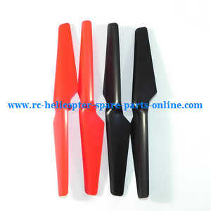 Wltoys WL Q212 Q212K Q212KN Q212G Q212GN quadcopter spare parts main blades propellers (Red-Black)