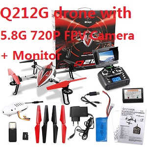Wltoys Q212G drone with 5.8G 720P camera and FPV monitor