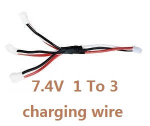 Wltoys WL Q353 RC Quadcopter spare parts 1 to 3 charger wire 7.4V