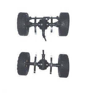 JJRC Q61 RC Military Truck Car spare parts total axle module assembly