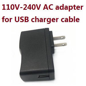 JJRC Q61 RC Military Truck Car spare parts 110V-240V AC Adapter for USB charging cable