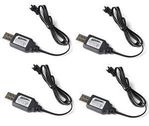 JJRC Q61 RC Military Truck Car spare parts USB charger wire 4pcs