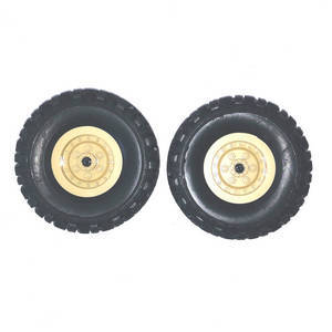 JJRC Q63 RC Military Truck Car spare parts tires 2pcs (Yellow)