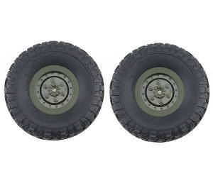 JJRC Q63 RC Military Truck Car spare parts tires 2pcs (Green)