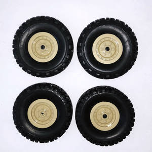 JJRC Q63 RC Military Truck Car spare parts tires 4pcs (Yellow)