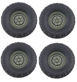 JJRC Q63 RC Military Truck Car spare parts tires 4pcs (Green)