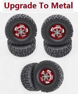 JJRC Q63 RC Military Truck Car spare parts tires 6pcs (Metal hub)