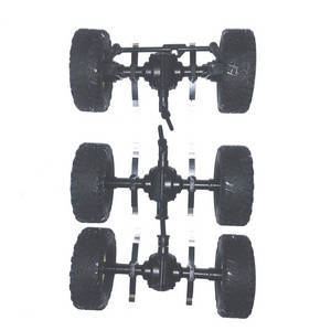 JJRC Q63 RC Military Truck Car spare parts total axle module assembly