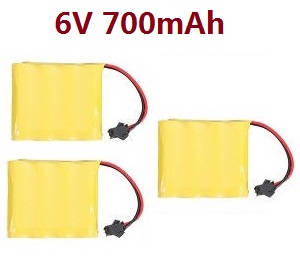 JJRC Q63 RC Military Truck Car spare parts 6V 700mAh battery 3pcs