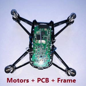 Wltoys WL XK Q818 drone RC Quadcopter spare parts main motors + PCB board + main frame (Assembled)