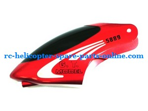 GT Model 5889 QS5889 RC helicopter spare parts head cover (Red)