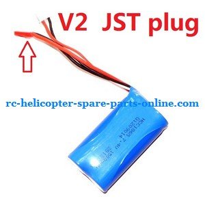 GT Model 8004 QS8004 RC helicopter spare parts battery 7.4V 1500MaH (V2 JST plug)