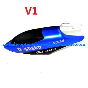 GT Model 8004 QS8004 RC helicopter spare parts head cover (Blue V1)