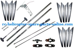 GT Model 8006 QS8006 RC helicopter spare parts A lot of spare parts set