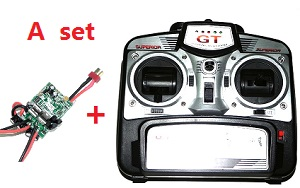 GT Model 8006 QS8006 RC helicopter spare parts transmitter + PCB board (A set)