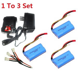 GT Model QS 9012 9019 RC helicopter spare parts 1 to 3 charger set + 3* 7.4V 2200mAh battery set