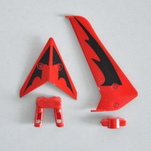 SYMA S107 S107G S107I RC helicopter spare parts tail decorative set (Red)