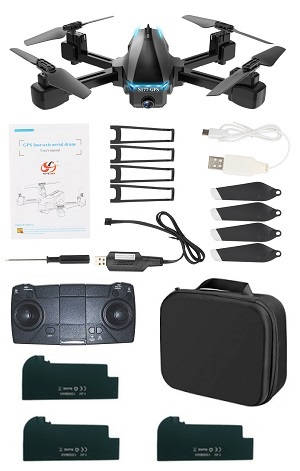 S177 GPS 5G WIFI camera RC drone with 3 battery and portable bag RTF