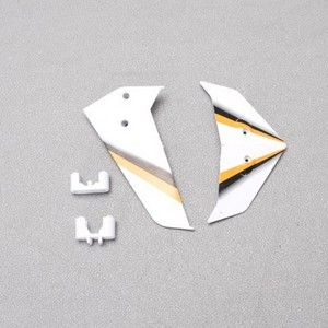 SYMA S301 S301G RC helicopter spare parts tail decorative set (White)