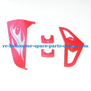 SYMA S031 S031G S31(2.4G) RC helicopter spare parts tail decorative set (S031G Red)