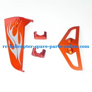 SYMA S031 S031G S31(2.4G) RC helicopter spare parts tail decorative set (S031G Orange)