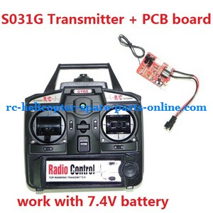 SYMA S031 S031G S31(2.4G) RC helicopter spare parts transmitter + PCB board (S031G work with 7.4V battery)