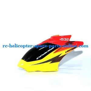 SYMA S032 S032G S32(2.4G) RC helicopter spare parts head cover (S32 Yellow)