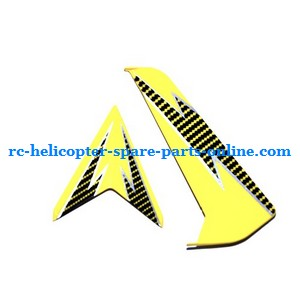 SYMA S032 S032G S32(2.4G) RC helicopter spare parts tail decorative set (S32 Yellow)