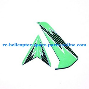 SYMA S032 S032G S32(2.4G) RC helicopter spare parts tail decorative set (S32 Green)