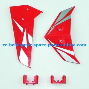 SYMA S033 S033G S33(2.4G) RC helicopter spare parts tail decorative set (S033G Red)