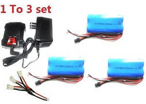 SYMA S033 S033G S33(2.4G) RC helicopter spare parts 1 to 3 charger set + 3*7.4v 2200mAh battery