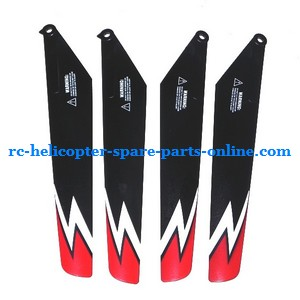 Subotech S902 S903 RC helicopter spare parts main blades (Red)