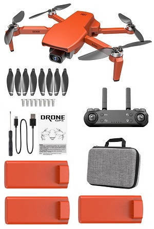SG108 L108 drone with portable bag and 3 battery, RTF Orange