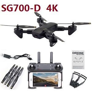 2020 newest upgrade SG700-D RC drone with 4K WIFI camera (Black or White) RTF