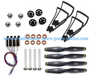 SG700 SG700-S SG700-D RC quadcopter spare parts main blades + mian motors + metal shaft + bearing + protection frame + caps of blades