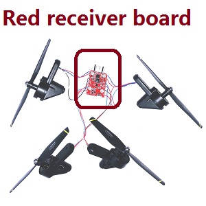SG700 SG700-S SG700-D RC quadcopter spare parts PCB board with main blades and motors set (Red PCB)